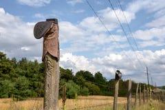 Cowboy Boot sul recinto Post Fotografia Stock