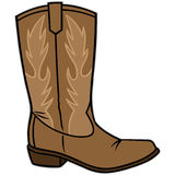 Cowboy Boot. Vector illustration of a Cowboy Boot stock illustration