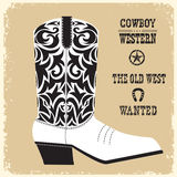 Cowboy boot vector isolated for design Royalty Free Stock Photo