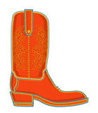 Cowboy boot.Vector symbol Royalty Free Stock Photos
