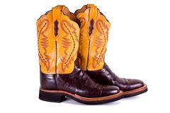 Cowboy boots. Stock Photo