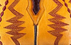 Cowboy boots. A cowboy boots stitching pattern closeup Royalty Free Stock Image