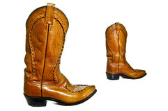 Cowboy boots. Pair of leather cowboy boots wild west royalty free stock photo