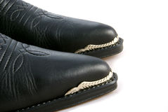 Cowboy Boots. A pair of cowboy boots with metal toe caps Royalty Free Stock Images