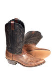 Cowboy boots. Isolated over white with clipping path Royalty Free Stock Photos