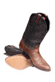 Cowboy boots. Isolated over white with clipping path Stock Photo