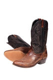 Cowboy boots. Isolated over white with clipping path Stock Image