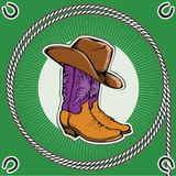 Cowboy boots. Royalty Free Stock Photo
