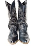 Cowboy boots. Western cowboy black boots on white background stock image