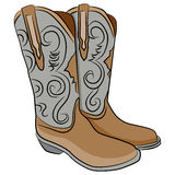Cowboy Boots Cartoon Stock Foto
