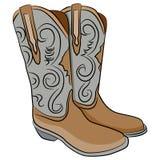 Cowboy Boots Cartoon royalty illustrazione gratis
