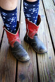 Cowboy Boots Cowgirl Fun Colorful Stock Photo
