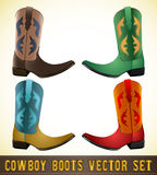 Cowboy Boots - detailed illustration Royalty Free Stock Photos