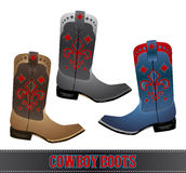 Cowboy Boots - detailled illustration Royalty Free Stock Image