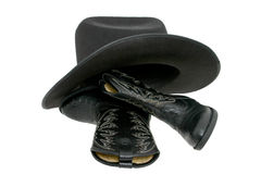 Cowboy Boots & Hat Royalty Free Stock Images