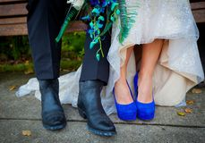 Cowboy boots and heels Stock Photography