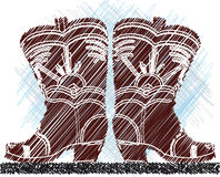Cowboy boots illustration Royalty Free Stock Photography