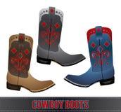 Cowboy Boots - illustrazione dettagliata illustrazione di stock