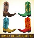 Cowboy Boots - illustrazione dettagliata illustrazione vettoriale
