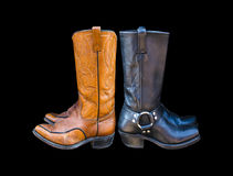 Cowboy boots isolated on a black background Stock Image