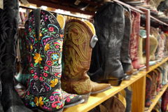 Cowboy boots: Mexican embroidery Stock Photo