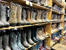 Cowboy boots in Nashville store Royalty Free Stock Photos