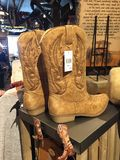 Cowboy Boots. A pair of cowboy boots on display in a store royalty free stock images