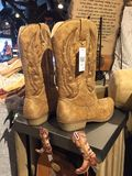 Cowboy Boots. A pair of cowboy boots on display in a store stock images