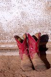 Cowboy boots in Red Stock Photos