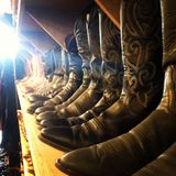 Cowboy boots. A row of cowboy boots in a shop in Austin, Texas Stock Photos