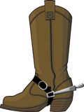 Cowboy boots with spurs royalty free illustration