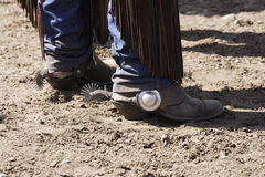 Cowboy Boots & Spurs Stock Photography