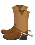 Cowboy boots vector illustration Stock Photos