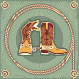 Cowboy boots.Vintage Royalty Free Stock Photos