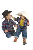 Cowboy Brothers tease each other Royalty Free Stock Images