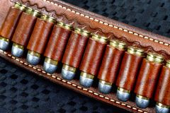 Cowboy 45 Bullets. Royalty Free Stock Photography