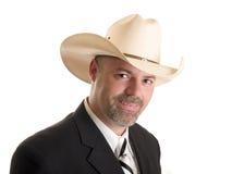 Cowboy businessman Stock Photo