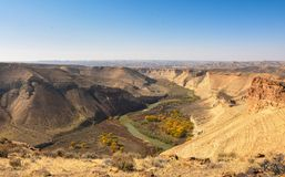 Cowboy Canyon In Utah. View Looking East White River Overlook royalty free stock images