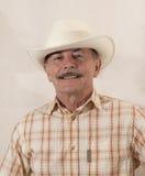 Cowboy in cappello bianco Fotografia Stock Libera da Diritti