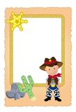 Cowboy card Royalty Free Stock Images