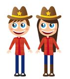 Cowboy cartoon Stock Photography