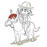 Cowboy cartoon  Royalty Free Stock Images