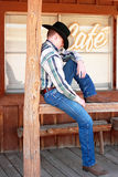 Cowboy Cat Nap Royalty Free Stock Photo