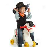 Cowboy child Royalty Free Stock Photo