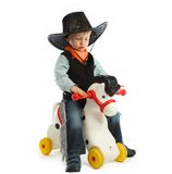 Cowboy child Stock Image