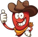 Cowboy chili pepper Royalty Free Stock Photos