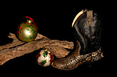 Cowboy Christmas stock afbeelding