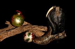 Cowboy Christmas Stock Image