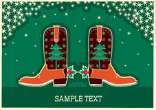 Cowboy christmas card Royalty Free Stock Images