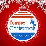 Cowboy christmas card background with American flag decoration Royalty Free Stock Photography